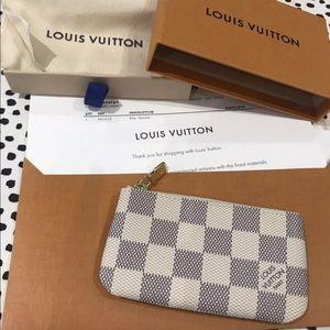 NWT Damier Azur Pochette Cles Key Pouch